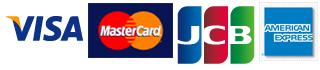 カード:VIZA  MasterCard  JCB アメリカンエクスプレス